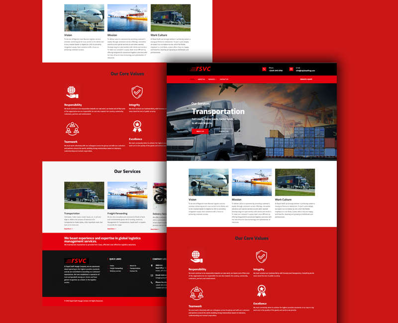 Rapid Swift - Logistics Website